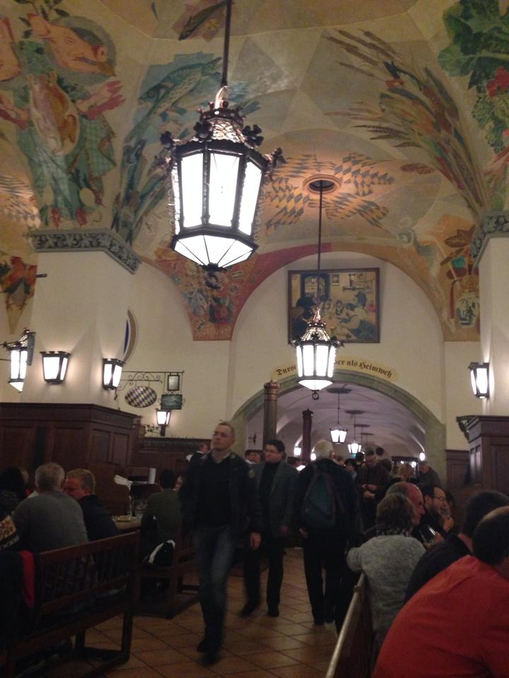 reasons to visit munich germany: Hofbrauhaus beer hall in Munich Germany