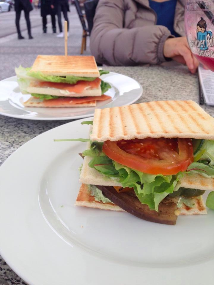 Veggie & Salmon Sandwich at Shan Rahimkhan