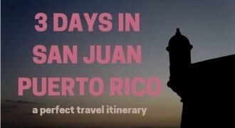 3 days in san juan puerto rico