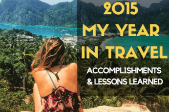 2015 MY YEAR IN TRAVEL