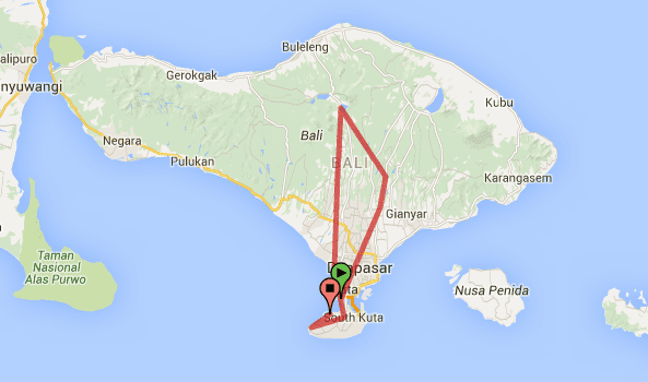 5 days in bali route