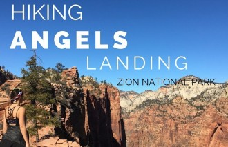 Hiking angels landing zion national park
