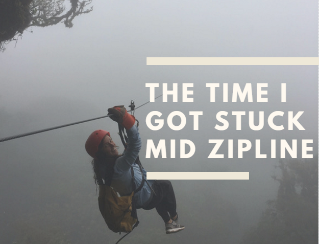 stuck on a zipline