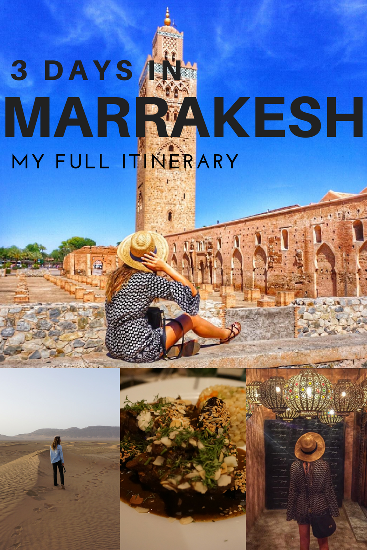3 days in Marrakesh itinerary
