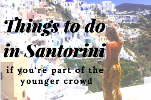 things to do in santorini for the younger crowd